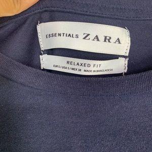 ZARA Crewneck Long Sleeve Relaxed T-shirt